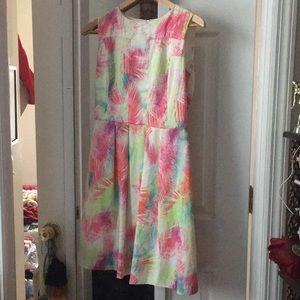 M Neon Palm Tree Sleeveless Dress